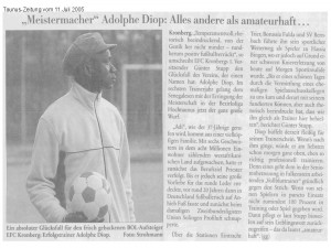 dolphe Diop-Taunus-Zeitung 11.07.05